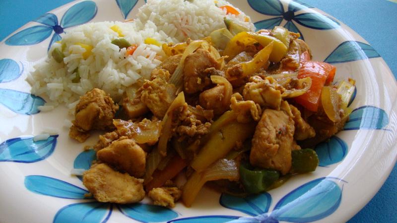 Kuřecí čína s paprikou